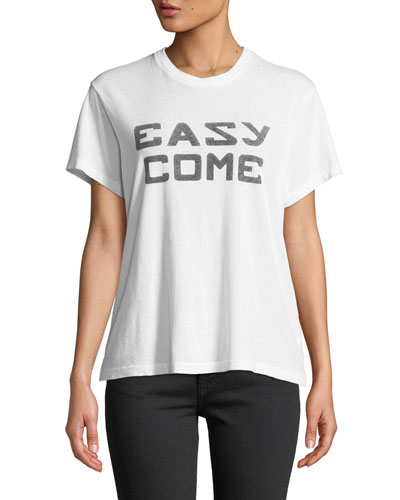 Easy Girlfriend Graphic Crewneck Tee