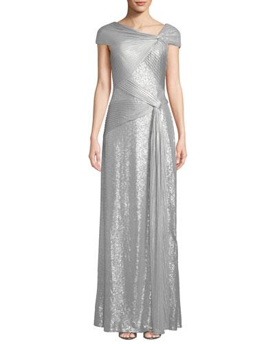 Gray One Shoulder Dress