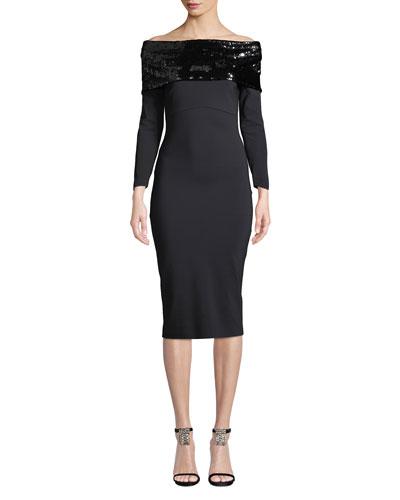Lipikette Sparkle Off-the-Shoulder Dress