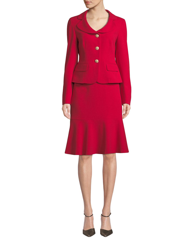 Two-Piece Jacket & Flounce Skirt Set