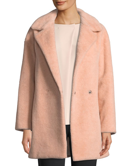 Harris Wharf London Teddy Double-Breasted Faux Fur Jacket