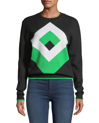 Cube Graphic Wool Pullover Sweater