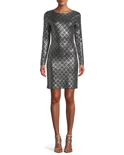 Silver Metallic Dress  d72bbf86d