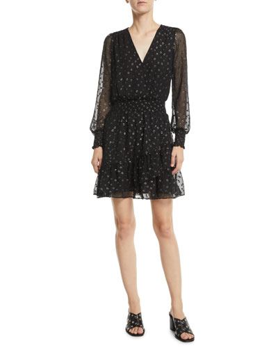 Michael Kors Long Sleeve Dress Neiman Marcus