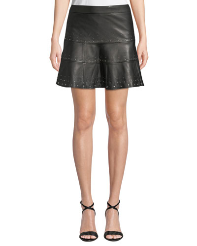 866035d818a7 Quick Look. Parker · Alex Studded Leather Mini Skirt