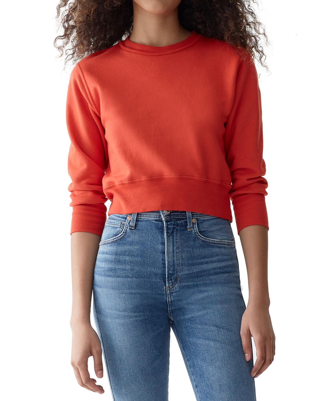 Tabasco Shrunken Cotton Pullover Sweatshirt