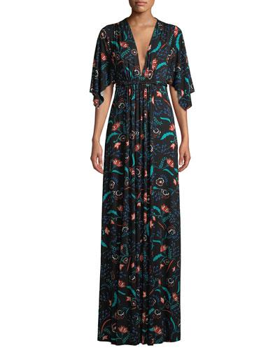 Empire Waist Maxi Dress Neiman Marcus