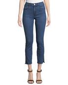 3x1 Luna Cropped Skinny Jeans with Split Hem
