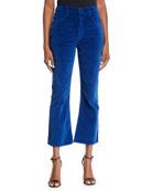 3x1 Empire Velvet Crop Flare-Leg Jeans