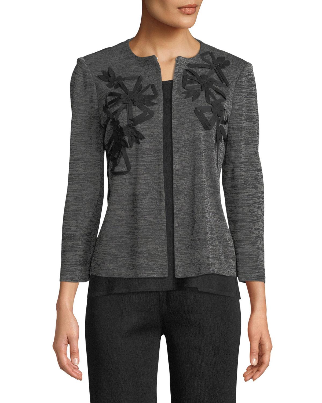 3/4-Sleeve Knit Jacket