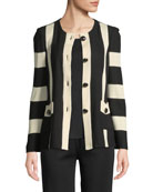 Misook Striped Button-Front Jacket and Matching Items &