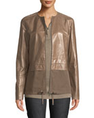 Lafayette 148 New York Lacquered Lambskin Albany To