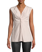 Lafayette 148 New York Kenya Sleeveless Matte Silk