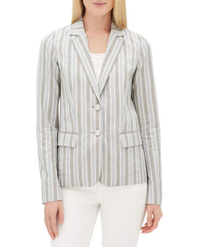 Vangie Elixir-Stripe Button-Front Jacket