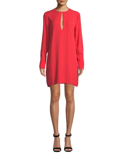 Bonnie Crewneck Long-Sleeve Mini Dress