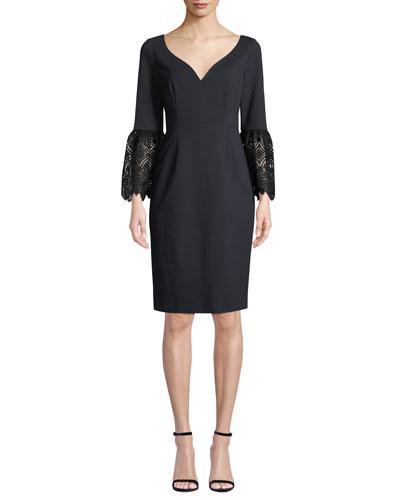 f954b5cc Quick Look. Elie Tahari · Danielle 3/4-Sleeve Sheath Dress