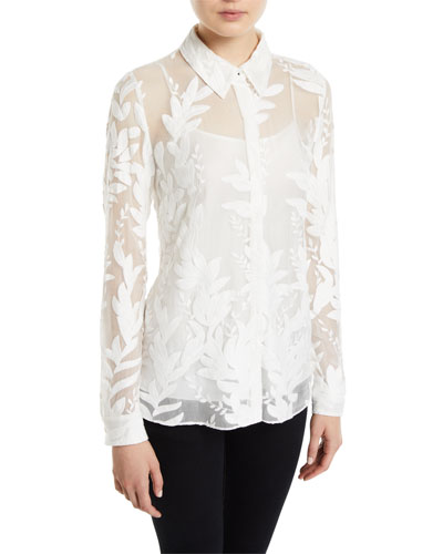 6589aa3b373afb White Fitted Silk Blouse
