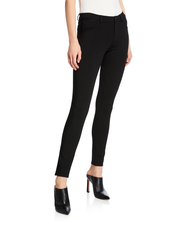 Mercer Punto Milano Skinny-Leg Jeans in Black