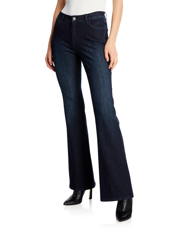 Mercer Flared Prestige Denim Jeans in Indigo