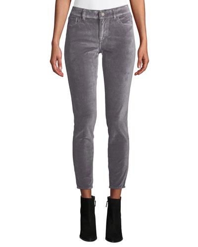 Florence Velvet Ankle Mid-Rise Skinny Jeans