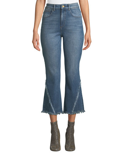 Wallace High-Rise Vintage Crop Flare Jeans