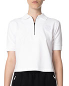 Kenzo Quarter-Zip Tiger Cropped Polo Shirt