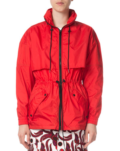 Quick Look. Kenzo · Zip-Front Hooded Logo Wind-Resistant Jacket. Available in  Red 67cccdfa4