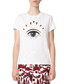 Kenzo Eye-Graphic Classic Crewneck T-Shirt and Matching Items