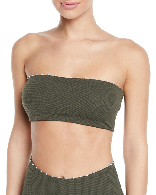 MARYSIA Corsica Bandeau Bikini Top in Green
