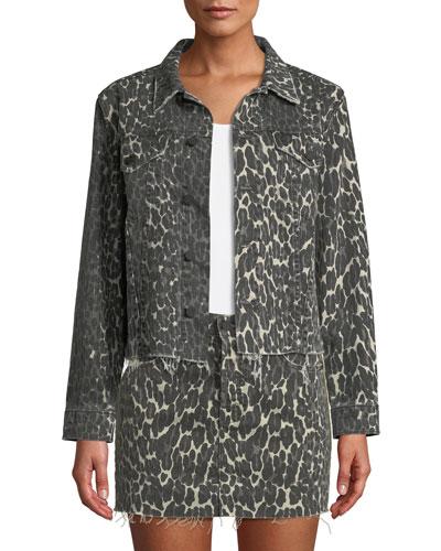 The Cut Drifter Leopard-Print Denim Jacket