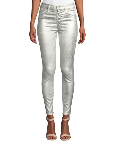 Looker Metallic High-Waist Skinny Jeans