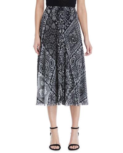 Stampa Crochet Patch Full Skirt
