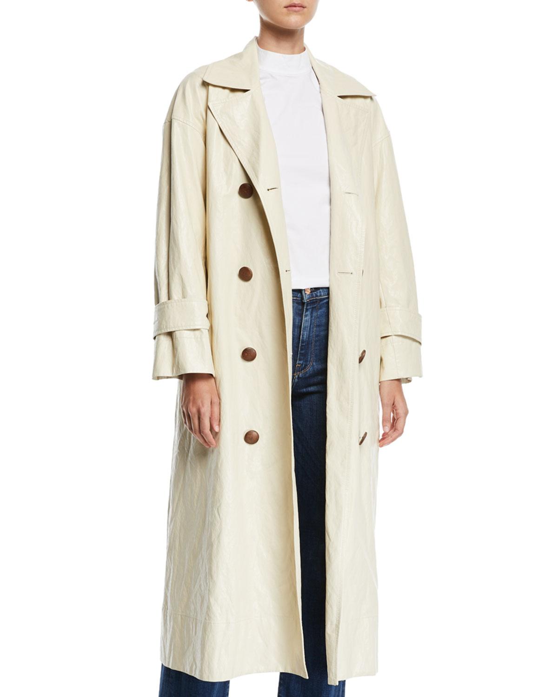 Oli Crinkle Long Trench Coat