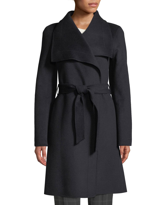 Tahari Coats ELLIE HANDMADE WRAP COAT W/ BELT