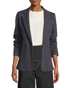 Derek Lam 10 Crosby Power Striped Single-Button Blazer