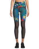 Nike Power Floral-Print 7/8 Performance Tights