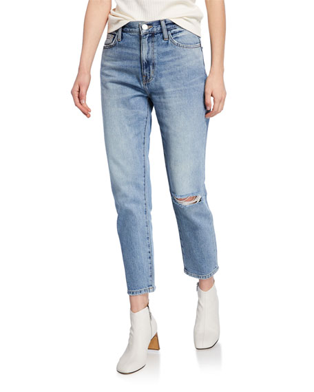 Current/Elliott The Vintage Cropped Straight-Leg Jeans