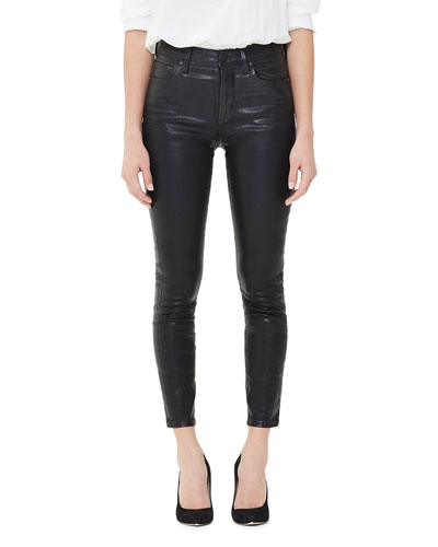 Rocket High-Rise Coated Skinny Jeans