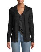 Kobi Halperin Leyla Sequin Embellished Merino-Wool Cardigan