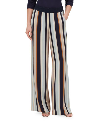 Hester Striped Wide-Leg Pants