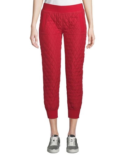 Quilted Cropped Jogger Pants