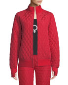 Norma Kamali Quilted Stand-Collar Bomber Jacket