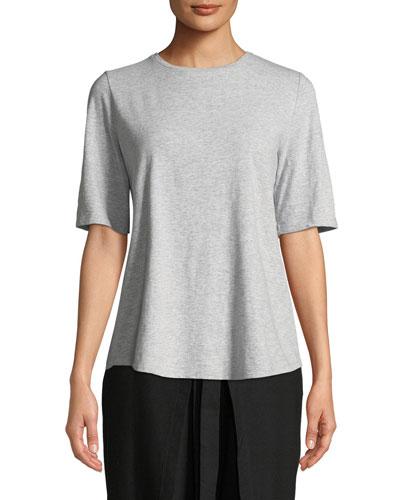 Plus Size Slubby Organic Cotton Tee Shirt