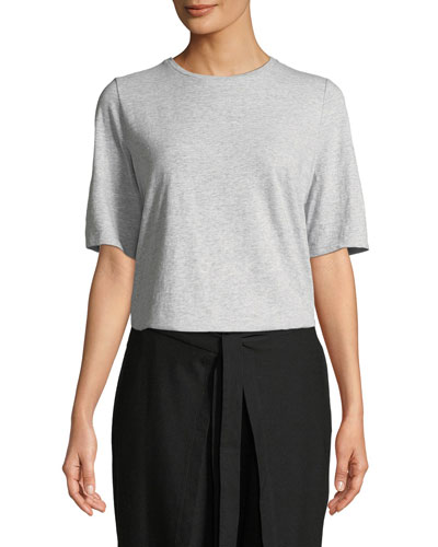Slubby Organic Cotton Tee Shirt, Plus Size
