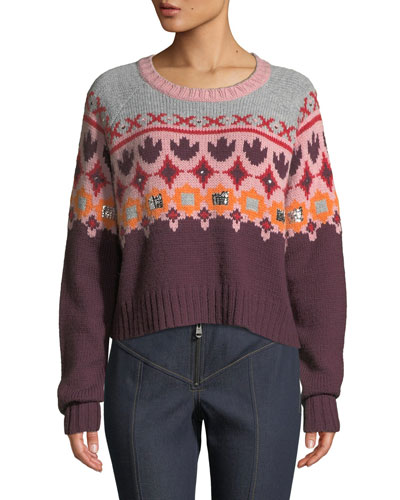 GIanni Pullover Sweater with Sequins