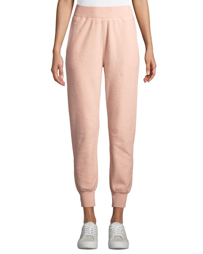 Brushed Terry Pull-On Jogger Sweatpants