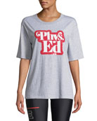 PE Nation Charger Phys. Ed Sequined Graphic Tee