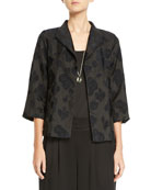 Eileen Fisher Botanical Jacquard 3/4-Sleeve Jacket