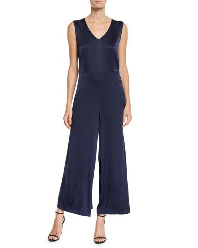 7cacc8fc584 Sleeveless Silk Jumpsuit