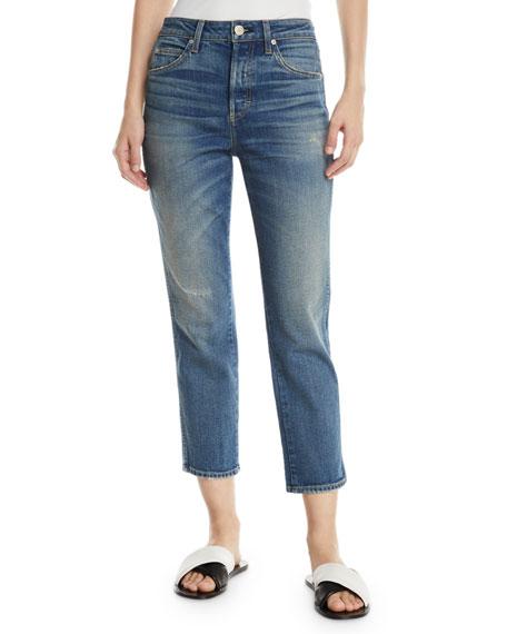 AMO Denim Babe Straight-Leg Cropped Jeans